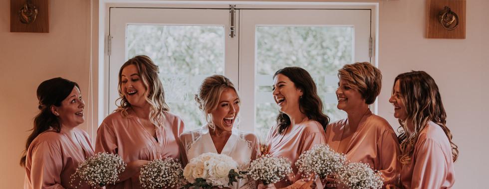 Bridesmaods on Wedding Monring