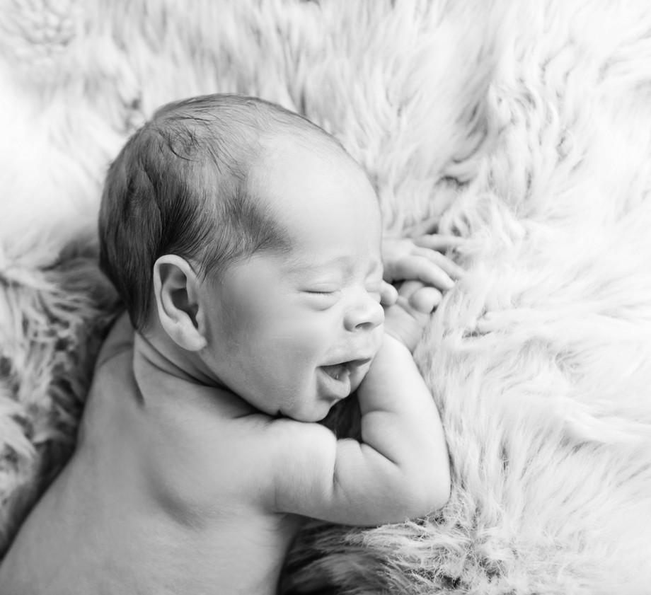 Newborn Baby Home Photoshoot on Sheepskin