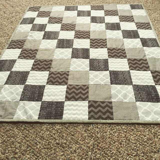 Poesy Quinn's finished quilt! #Grey