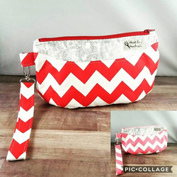 #Pink and #Red Chevron clutches are listed in my shop! #ValentinesDay colors and all😍