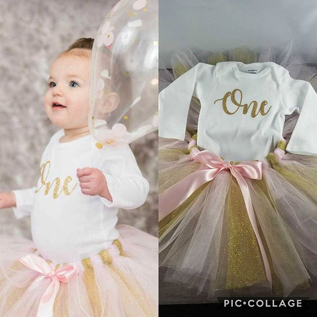 I had the pleasure of making this outfit for little Brenna's #FirstBirthday ! She looks adorable in