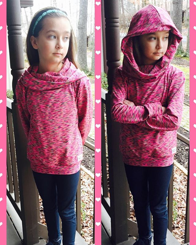 #comfycowlhoodie for my big girl! Made out of performance knit from _hobbylobby Pattern by _rebeccaj