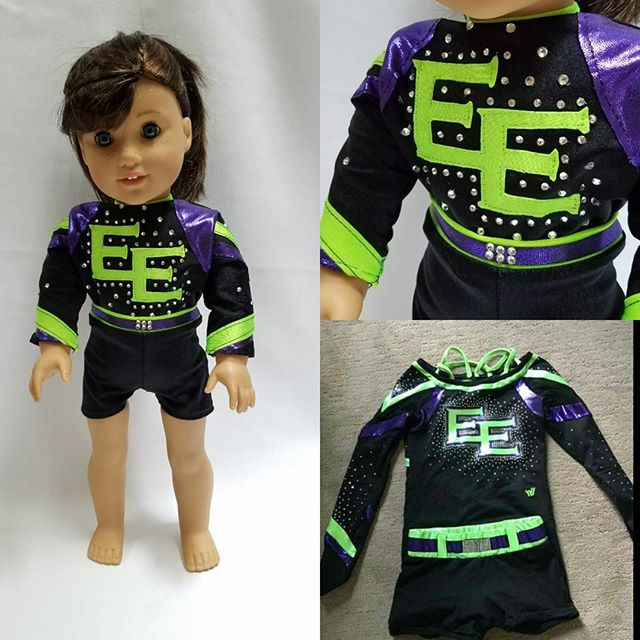 Another custom cheer outfit! That's the original in the bottom right