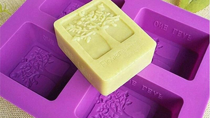 Forma de Silicone para Sabonetes (Molde Biscuit / Gesso / Artesanato)
