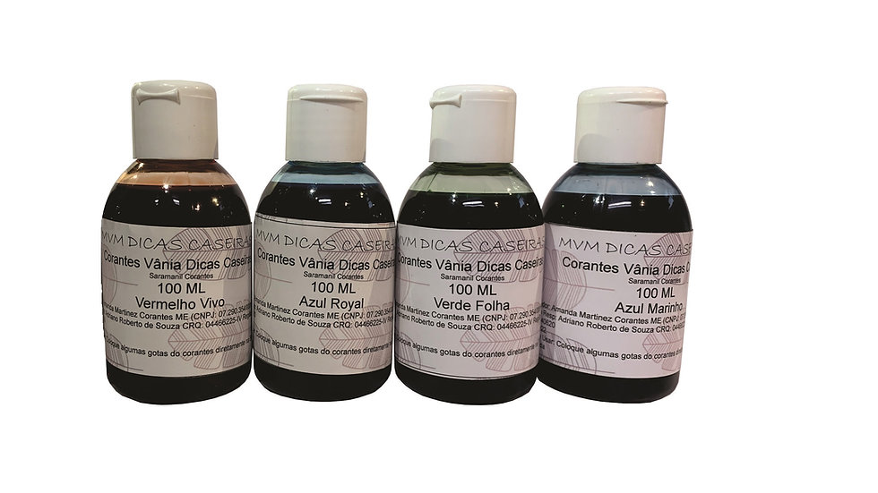 Corante Liquido Para Sabão E Sabonetes - 1 Frasco - 100ml