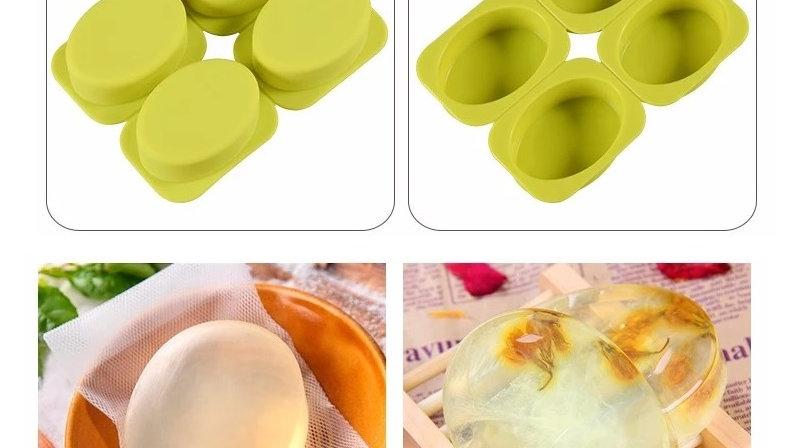 Forma Sabonete / Molde Sabonete Artesanal - Forma Silicone - Oval