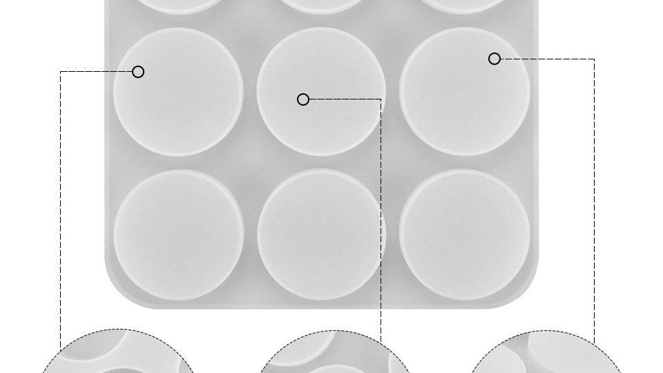 Molde Sabonete / Forma Sabonete Silicone - Circular