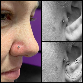 Nostril and Tragus Piercings