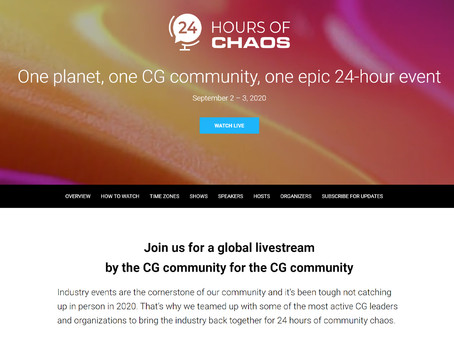 One planet, one CG community, one epic 24-hour event.