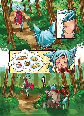 Página do manga The Little Good Wolf
