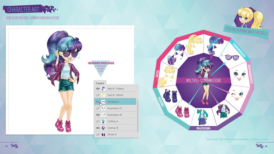 Style Guide Polly - Space Pop