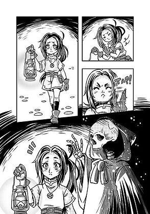 Página do manga The Moon Witch