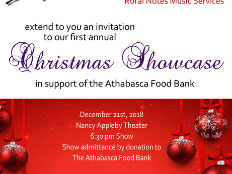 Join us for our first Annual Christmas Showcase
