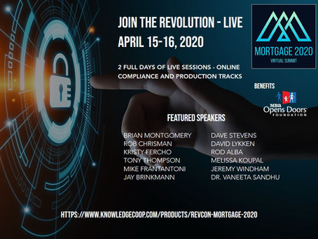 Mortgage 2020 Virtual Conference - April 15-16, 2020