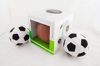 The beautiful game… and 500 GRAM CHOCOLATE FOOTBALLS!