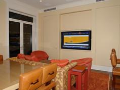 DOOR PANEL WITH TV IN VIEWING POSITION