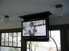CEILING MOUNT TV DROP DOWN - LOWERED