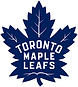 Toronto Maple Leafs old-style logo, in blue and white. The maple leaf logo reflects the team is based in Toronto Canada