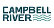 Logo. Stylized waves and the words Campbell River