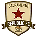 A shield-shaped logo for the Sacramento Republic Football (Soccer) Club