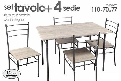 Tavolo con 4 sedie cod. 698750