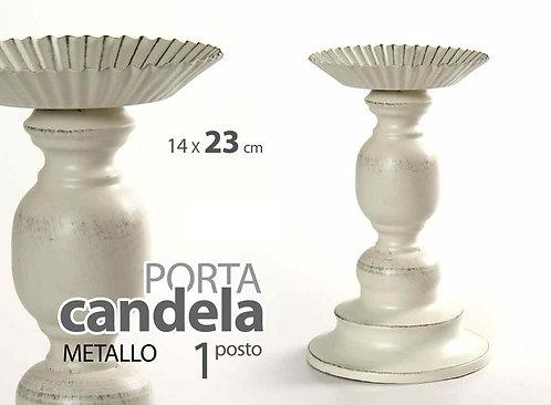 Candelabro in metallo 1 fiamma cod.707797