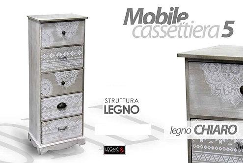 Cassettiera 5 cassetti Cod.742729