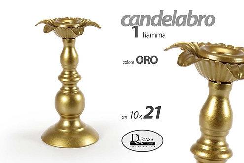 Candelabro 1 fiamma col. Oro  cod.794872