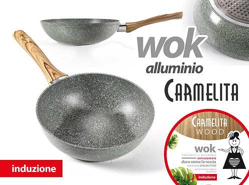 Wok in alluminio antiaderente Ø. 30cm.