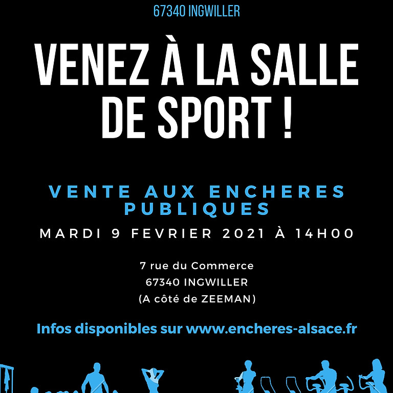 Vente aux enchères - 09/02/2021 à 14h00 - petit matériel de salle de sport + meubles