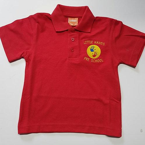 little hands pre school, polo shirt