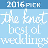 The knot best of weddings award badge