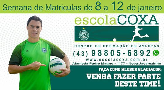 fe8c0562f4 Escola de futebol Pequeno Craque agora é Escola Coxa  Matrículas abertas de  8 a 12