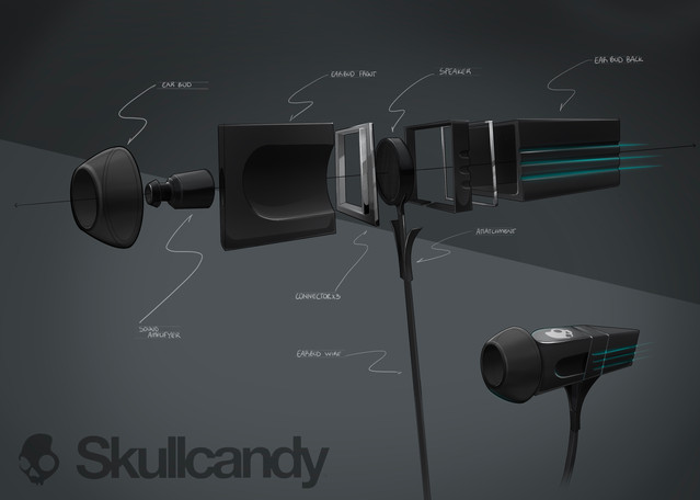 Skull Candy Earbud Concept