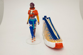 Figurine and Shoe Model Front View