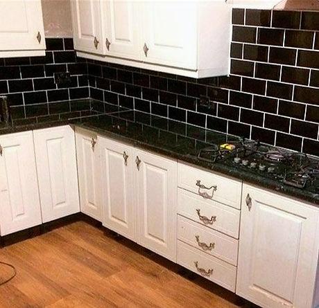 Kitchen Tiling (Black Tiles)