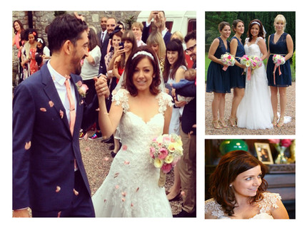Collage of bride and groom images