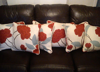 made to order cushions with red flower pattern.jpg