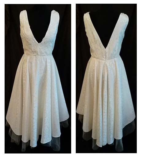 classic vintage white wedding dress