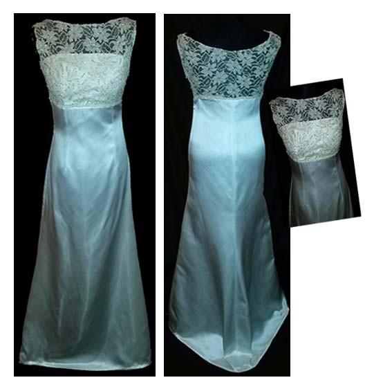silk wedding dress with lace bodice