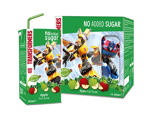 Appy Kids Co  Transformers Apple No Added Sugar Fruit Drink 200ml