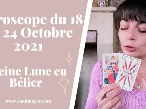 Taroscope du 18 au 24 Octobre 2021 | Pleine Lune en Bélier