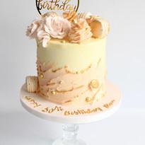 Textured Ganache & Macaron Cake