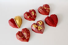 Red Cake Hearts
