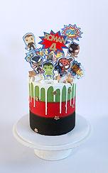 Avengers Drip Cake