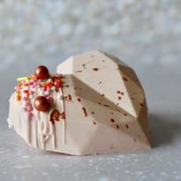 Blush & Rose Gold Cake Heart