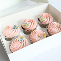 Blush Swirl Cupcakes
