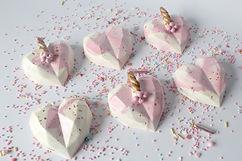 Unicorn Cake Hearts Tutorial