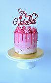 Valentine's Day Ombre Drip Cake