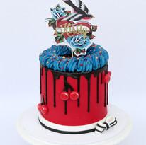 Rockabilly Ganache Cake